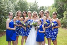 Blue and White Garden Wedding at Barclay Villa - Fab You Bliss Prom Dresses, Wedding Dresses, Wedding Couples, Wedding Bride, Wedding Ideas, Southern Weddings, Real Weddings, Blue And Silver
