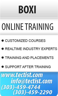 BOXI Online Training - Business Objects Online Training by real time exprts. http://www.tectist.com/boxi-online-training.html #boxicourse #BOXItraining #onlineboxitraining #onlinetraining