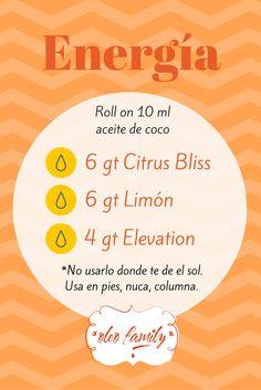 Actívate y llénate de energía con esta mezcla. oleofamilymexico@gmail.com
