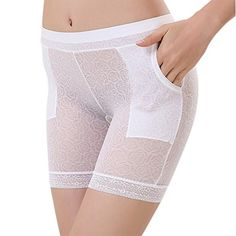 Sasairy Women's Stretch Boy Shorts Briefs Panties with Pocket