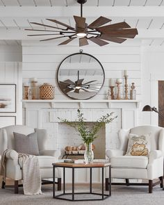 Monte Carlo Prairie 1 LED Light 62 Inch Ceiling Fan In Aged Pewter With 14 Light Grey Weathered Oak Blade And Frosted White Shade Living Room Fans, Living Room Ceiling Fan, Living Room Grey, Living Room Modern, Living Room Designs, Living Room Decor, Small Living, Bedroom Decor, Cozy Living