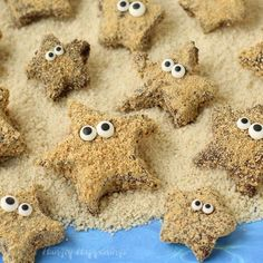 Turn store bought marshmallows into adorable S'mores Starfish for your beach themed summer party. No fire needed! Beach Themed Crafts, Ocean Crafts, Beach Themed Food, Beach Crafts, Beach Theme Desserts, Beach Themes, Summer Desserts, Family Crafts, Crafts For Kids