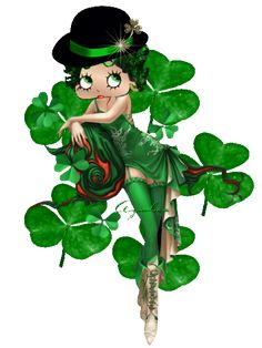 Animated Gif by Joey Imagenes Betty Boop, St Patricks Day Pictures, Saint Patricks Day Art, Black Betty Boop, Boop Gif, Betty Boop Cartoon, Betty Boop Pictures, St Pattys, Disney Cartoons