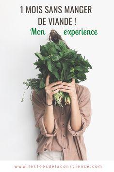 Voilà 1 mois que j'ai arrêté de manger de la viande, simplement suite à une écoute plus attentive des besoins de mon corps. Dans cet article, je vous partage mon expérience (presque) végétarienne, les différences que je ressens et pourquoi j'ai pris cette décision ! #vegetarien #sansviande #alimentation #alimentationsaine #alimentationvegetarienne Conscience, Blogging, Articles, Business, Fashion, Going Vegetarian, Stop Eating, Good Advice, 1 Month