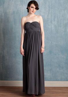 slate gray bridesmaid dress via Ruche