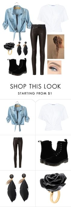 """""""Saw this outfit and fell in love!"""" by creativegurlsrbaexoxo ❤ liked on Polyvore featuring T By Alexander Wang, rag & bone, Dr. Martens and Nach Bijoux"""