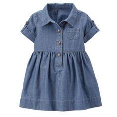 Carter's Baby Girls' Shirt Dress with Diaper Cover Baby Girl Party Dresses, Dresses Kids Girl, Baby Dress, Kids Outfits, Dress Girl, Baby Girl Shirts, Carters Baby Girl, Baby Girls, Toddler Girls