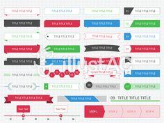 見出しセット1 シンプル/クール/web Japanese Graphic Design, Graphic Design Layouts, Layout Design, Leaflet Layout, Web News, Word Design, Photoshop Illustrator, Banner Design, Infographic