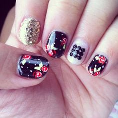 Betsey Johnson Inspired Manicure #Nails #Mani