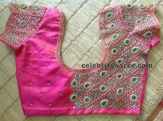 40 Latest Maggam Work Blouse Designs for : Images & Catalogue Stone Work Blouse, Hand Work Blouse Design, Blouse Back Neck Designs, Fancy Blouse Designs, Latest Maggam Work Blouses, Wedding Saree Blouse Designs, Maggam Work Designs, Zardozi Embroidery, Embroidery Stitches