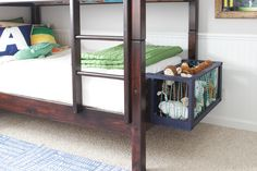 How to make a stuffed animal corral or toy box that hooks onto a footboard. Lightweight yet sturdy to hold plenty of stuffed animals, and occupies minimal space. 29