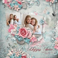 "Congratulations to anny-libelle for her layout ""Happy Time"". This gorgeous layout was voted LOTW by the scrappers on our site. The clustering on this layout is just fabulous. Anny-libelle has used so many beautiful elements in her clusters without over-powering her photos. I love how she perfectly shadows her elements to create depth at the center of the cluster. What an amazing layout!"