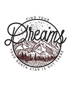 """Find your dreams… your North Star is out there! Young girls who have been trapped in human trafficking may be forced to give up their freedom, but no one can take away their dreams. This design is inspired by the North Star """"Polaris"""", the namesake of the charity it benefits. They are dedicated to liberating courageous young women who have been forced into sex trafficking in the U.S. and to giving them the love and care they need to chase their dreams again."""