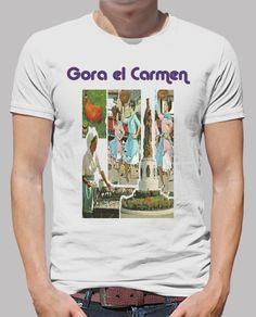 Camiseta Hombre manga corta, El Carmen 2017 disponible en 19 colores por 20,90€
