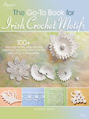 New Patterns & Supplies - The Go-To Book for Irish Crochet Motifs    My book is finally out.