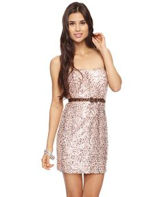 Forever 21 Sequined Sweetheart Dress. On me, what would you think? :)
