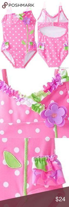 Rash Gaurd  PNK Circo Girls Infant Two-Piece Swimsuit Sizes 12M 18M  NWT UPF 50