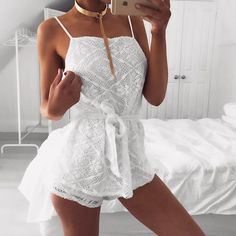 Crochet Overlay Playsuit | #SaboSkirt  Freshest of them all  @em.spiliopoulos