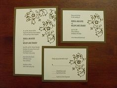 stampin up wedding invitations - Google Search