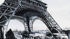 La Tour Eiffel à Paris - Nicolas Jolly Eiffel Tower Painting, Paris Painting, Painting Art, Watercolor Paintings, Original Paintings, Photo Portrait, Draw On Photos, French Artists, Paris Travel