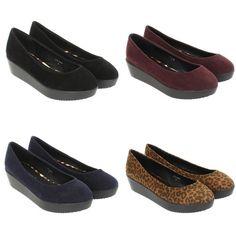 Womens Ladies Flat Flatform Platform Low Heel Pumps Shoes Ballerinas Size 3 8 | eBay