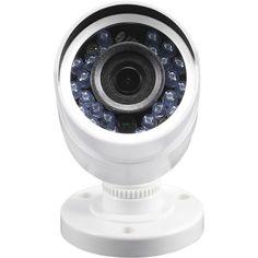 Swann - Add-On Indoor/Outdoor High-Definition Surveillance Camera - White - Front Zoom