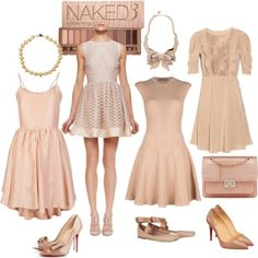 """Rose gold dresses"" by di-ma-rivera on Polyvore"