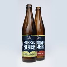 beer labels | Forked River Brewing Company on Packaging of the World - Creative Package Design Gallery