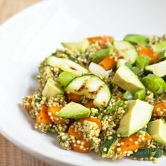 You never want your quinoa another way again! Asian Quinoa with a very addictive dressing (based on a Mission Street Food recipe)!