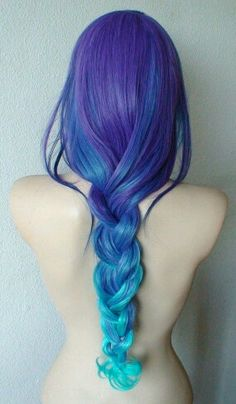 Bluish purple hair