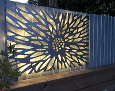 Laser Cut Decorative Metal Wall Art Panel Sculpture for with optional lighting // Benbecula Laser Cut Lamps, Laser Cut Panels, Laser Cut Metal, Laser Cut Screens, Laser Cutting, Metal Wall Art Decor, Patio Wall Decor, Outdoor Metal Wall Art, Metal Garden Wall Art