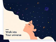 #universe #stars #ui #color #style #vector #clean