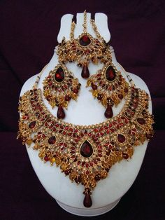 Heavy ethnic jewelry set