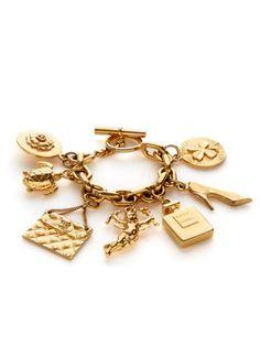 Chanel Chanel Vintage 7-Icon Dangling Charm Bracelet