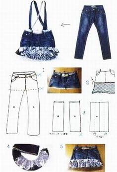 82 besten re style jeans to skirt bilder auf pinterest alte kleidung kleidung n hen und alte. Black Bedroom Furniture Sets. Home Design Ideas