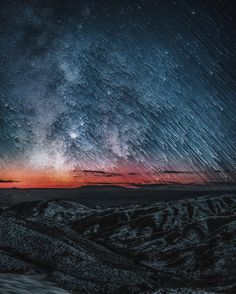 Falling Skies  by Kyle Kerr  #landscape #photo #stars #astro #astrophotography #digitalart #kylekerr