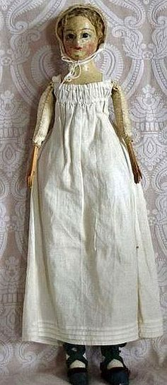 Early Antique French Restoration Period Parisienne Doll.