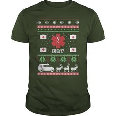 EMT Ugly Christmas Sweater-Style Printed Tee!