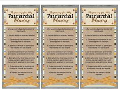 Handout- Preparing for a Patriarchal Blessing