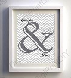 5 x 7 8 x 10 11 x 14 Wedding Date Art Print by DigitalPrintShop, $3.99