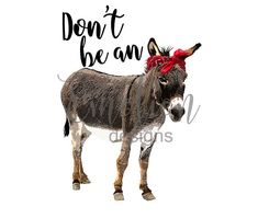 ******This is for a DIGITAL DOWNLOAD only****** Dont be an ass, donkey clipart. High resolution png file. After placing your order, your file with be available for download. It can be used for personal or commercial use on your own products, but cannot be resold as graphics. TERMS