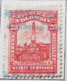 Personajes y motivos colombianos 1917 MONUMENTO DE BOYACÁ