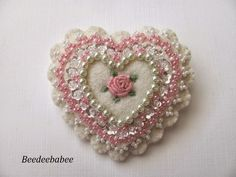 pink scalloped heart pin                                                                                                                                                                                 More