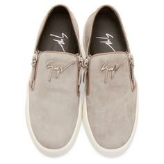 Giuseppe Zanotti SSENSE Exclusive Grey Suede Slip-on Sneakers
