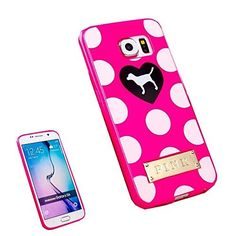 Superbz Samsung Galaxy S6 Polka Dot LOVE Heart Case,Polka Dot Love Heart Cute Dog Design Replacement Victoria's Secret Pink TPU Case Cover for Samsung Galaxy S6 (Not for S6 Edge,S6 H), http://www.amazon.com/dp/B00XJD296S/ref=cm_sw_r_pi_awdm_uQo2vb0HDNT12