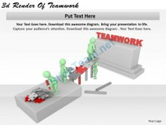 1113 3D Render of Teamwork Ppt Graphics Icons Powerpoint #Powerpoint #Templates #Infographics