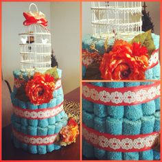 Towel/dishrag cake (made by Jennifer Louthan) >> Great wedding shower or housewarming gift!