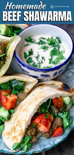 Learn how to make beef shawarma at home like a pro! Easy expert recipe, complete with shawarma seasoning and fixings for the best sandwich! Shawarma Seasoning, Shawarma Spices, Clean Eating Recipes, Lunch Recipes, Healthy Recipes, Easy Recipes, Weeknight Recipes, Primal Recipes, Turkey Recipes