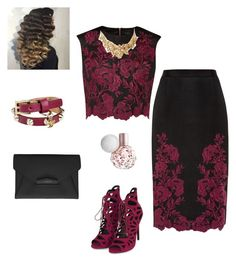 """""""Untitled #70"""" by hollowayraqu on Polyvore featuring Ted Baker, Topshop, Dsquared2, Givenchy, Oscar de la Renta, women's clothing, women, female, woman and misses"""