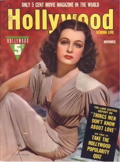 Joan Bennett on the cover of Hollywood, November 1939